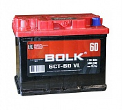 Аккумулятор автомобильный Bolk  AB601 Прямая 60 500 для ВАЗ 2108, 2109